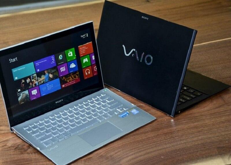 Laptop Sony Vaio thao tác đơn giản