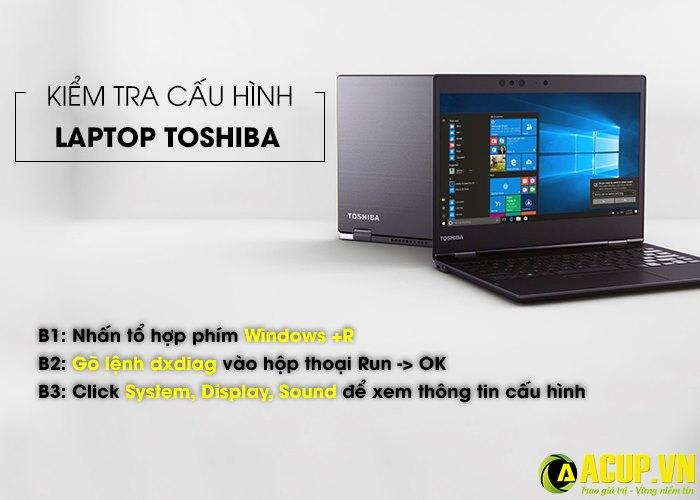3 bước kiểm tra cấu hình Laptop Toshiba